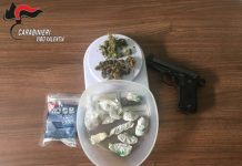 marijuana pistola finta