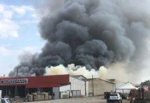 Incendio in un centro commerciale di San Marco Argentano