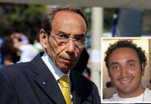 Mario Congiusta, nel riquadro il figlio Gianluca, ucciso dalla 'Ndrangheta