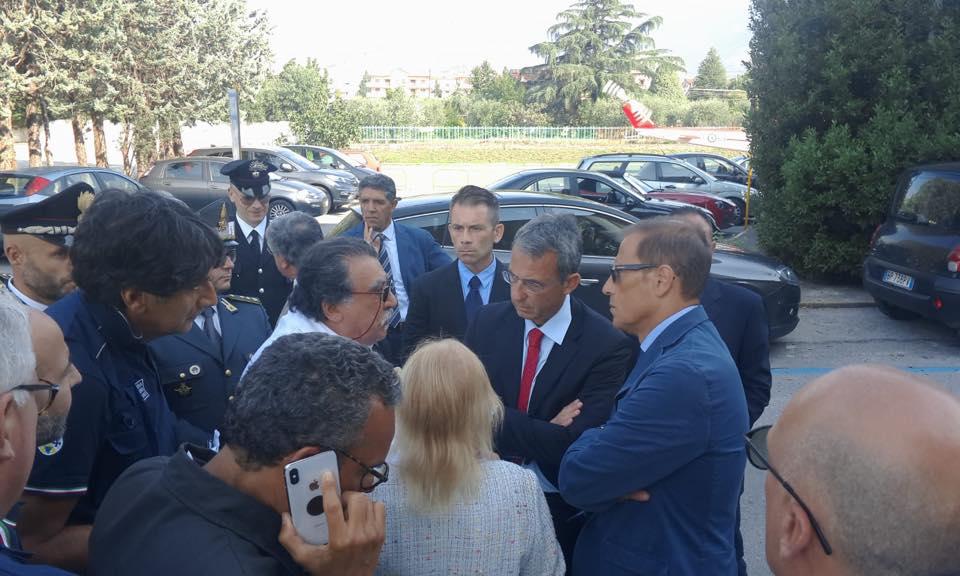 Il ministro dell'Ambiente Sergio Costa a Castrovillari