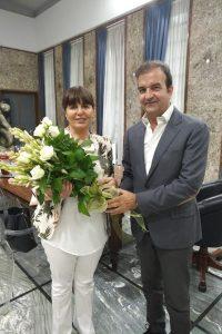 Il sindaco Mario Occhiuto con il Questore Giovanna Petrocca