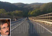 L'inclinazione sul Viadotto Cannavino, nel riquadro il sindacalista Uil Roberto Castagna