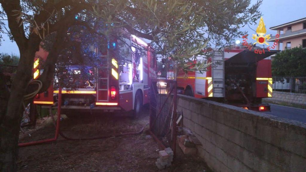 incendio deposito Badolato