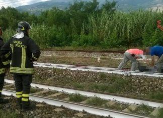 incidente treno cadavere