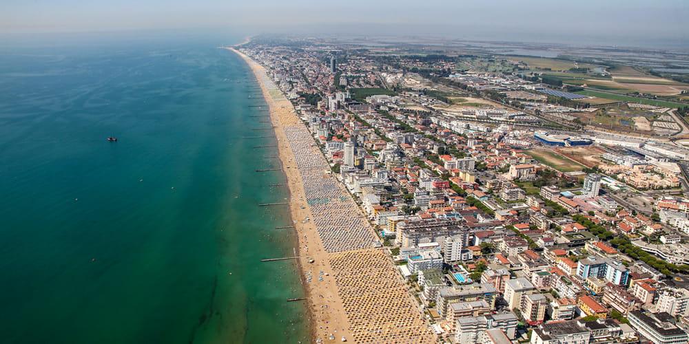 panoramica spiaggia jesolo