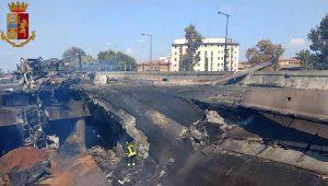 ponte crollato incendio Bologna