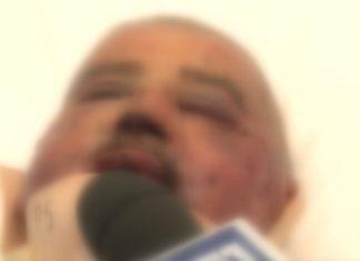 Carlo Martelli intervistato dal Tg1 in ospedale