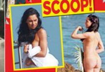 La copertina del settimanale Oggi con il nudo di Carlotta Maggiorana