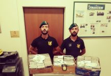 Il materiale sequestrato dalla Guardia di Finanza