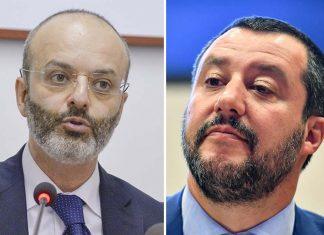 Il presidente dell'Anm Minisci e il ministro Salvini