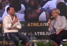 Salvini intervistato da Mentana alla festa di FdI Atreju 2018