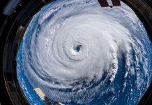 Uragano Florence spazio