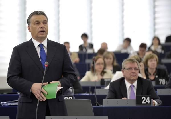 Viktor Orbàn a Strasburgo