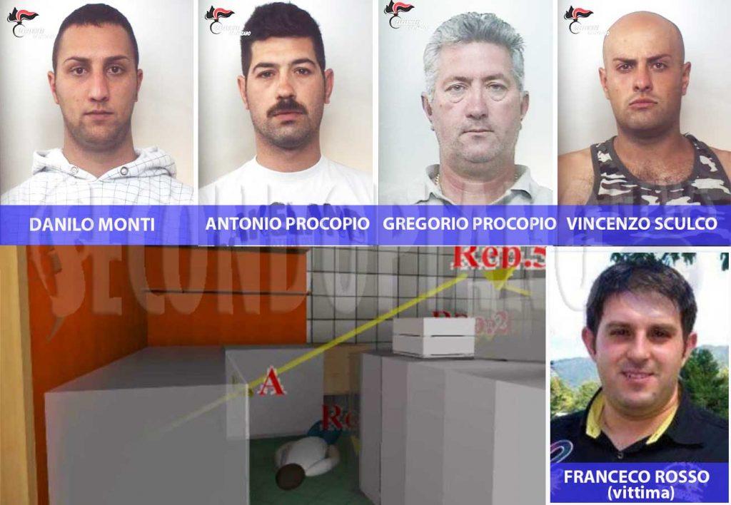 Arrestati Danilo Monti, Antonio Procopio, Gregorio Procopio e Vincenzo Sculco