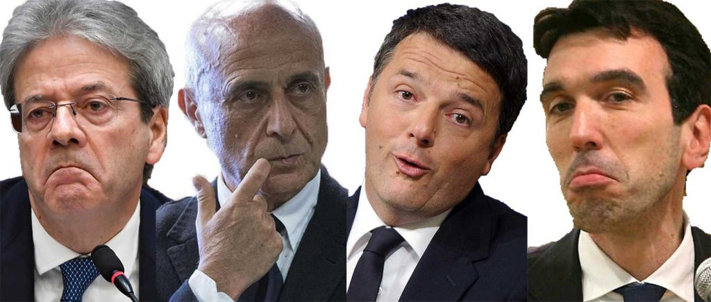 big PD Gentiloni, Minniti, Renzi Martina