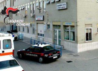 Carabinieri davanti Ospedale Pugliese
