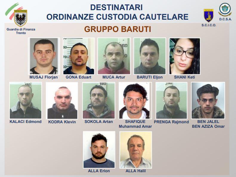 droga, arrestati da gdf Trento