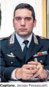 Il Capitano dei Carabinieri Jacopo Passaquieti