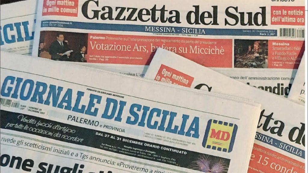Editoria, restyling di Gazzetta Sud e Giornale Sicilia
