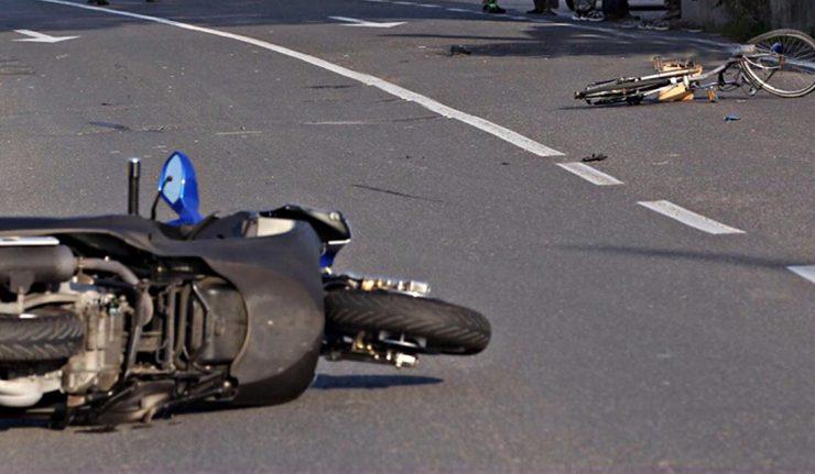 incidente moto bici