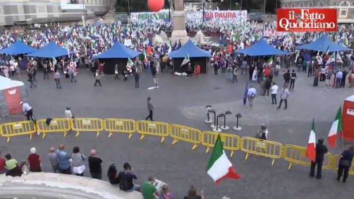manifestazione Pd Roma