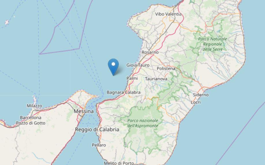 terremoto palmi mare
