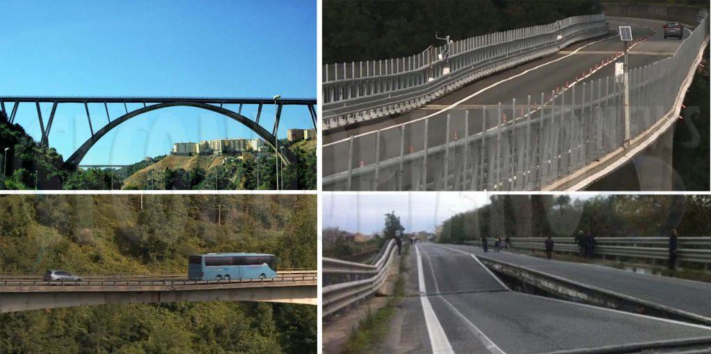 Alcuni viadotti in Calabria.