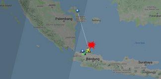 Aereo precipitato Indonesia