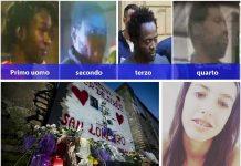 Gli africani fermati per l'omicidio e lo stupro di Desiree Mariottini, nel riquadro in basso