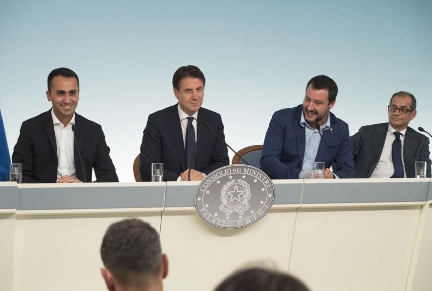Di Maio Conte Salvini Tria