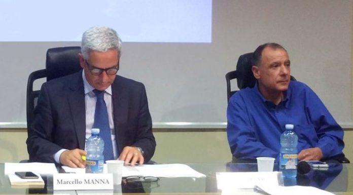 Da sinistra il sindaco di Rende Marcello Manna con l'assessore Domenico Ziccarelli