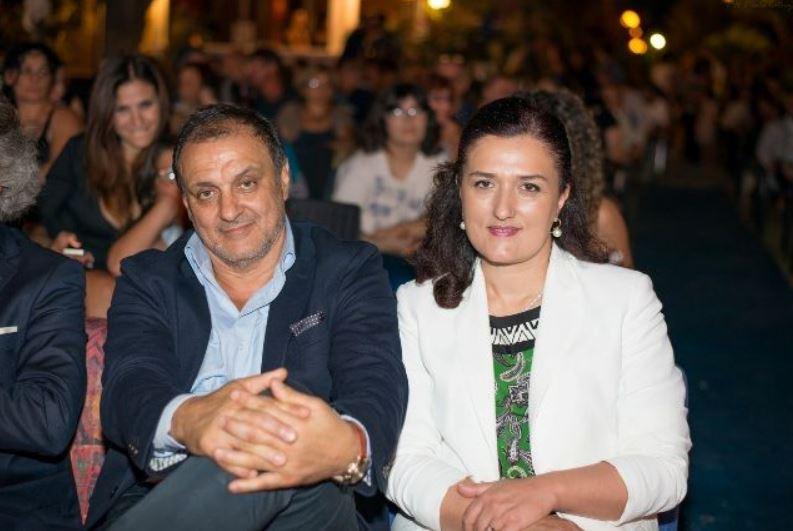 L'imprenditore Massimo Marrelli con la moglie Antonella Stasi