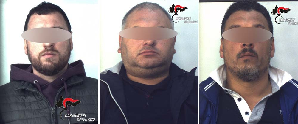 Da sinistra i fratelli arrestati: Salvatore, Leoluca  e Antonio Lo Bianco