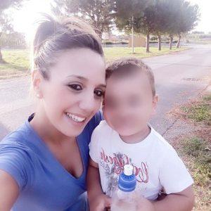 Stefania Signore con il figlio