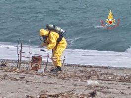 L'intervento unità del Nucleo NBCR dei Vigili del fuoco