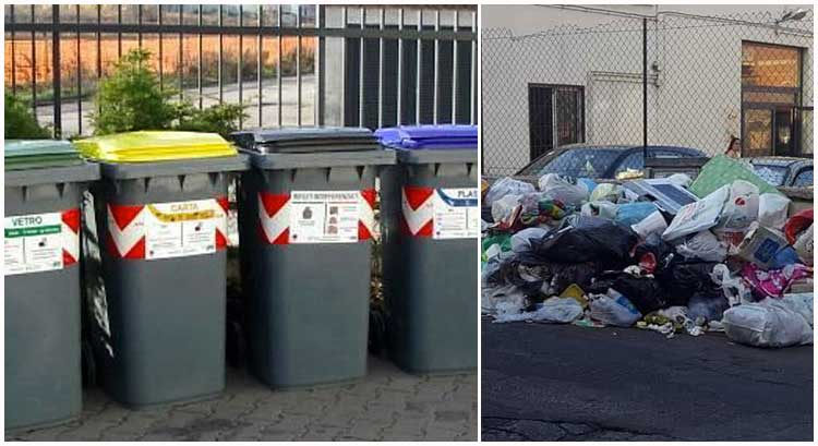 cassonetti raccolta differenziata rifiuti