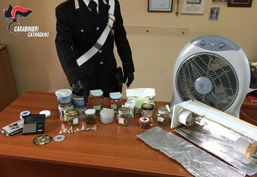 marijuana sequestrata a Giorgio Mosca