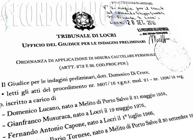 ordinanza riace arresto Lucano