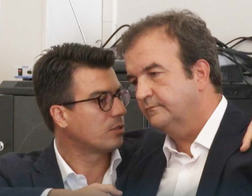 Da sinistra Gianluca Callipo e Mario Occhiuto