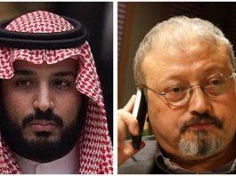 Il principe Mohammed bin Salman e il giornalista dissidente ucciso Jamal Khashoggi