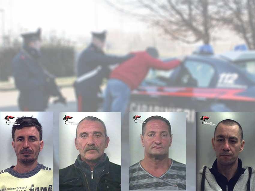 Da sinistra Perparim Lamaj, Michele Malvaggio, Aldo Borelli e Giovanni Cukon