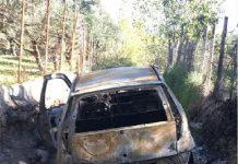 auto bruciata Massimo Vona