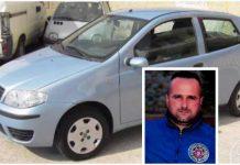 La Fiat Punto di Massimo Vona, nel riquadro