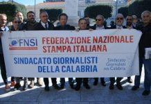 Flash mob giornalisti a Reggio Calabria
