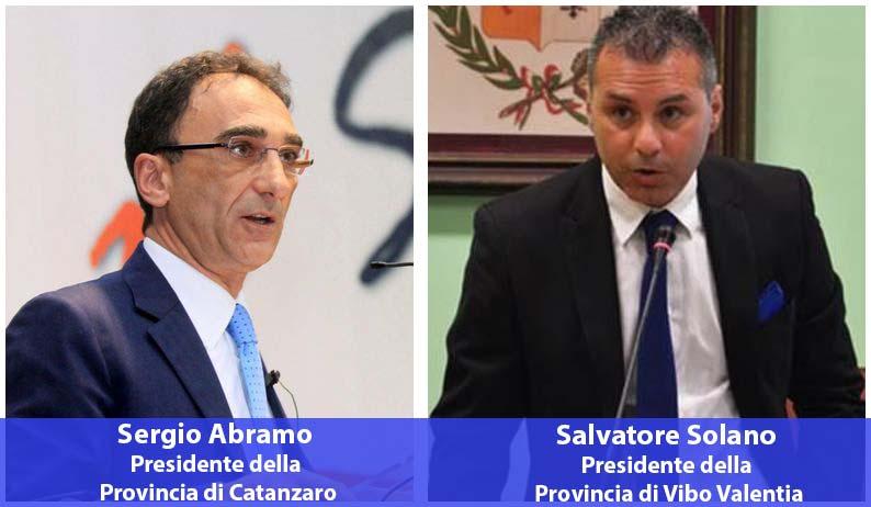 presidenti province catanzaro vibo Sergio Abramo e Salvatore Solano