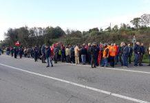 Manifestazione lavoratori Lsu Lpu ad Amendolara