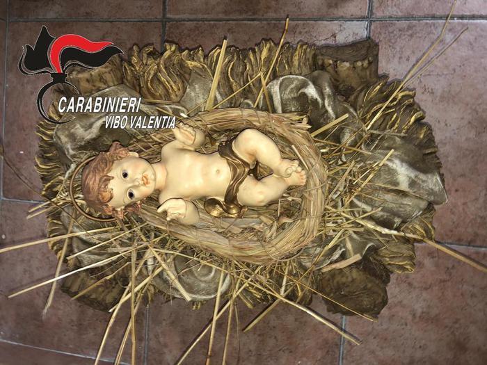 La statua del Bambinello del Presepe di Sant'Onofrio