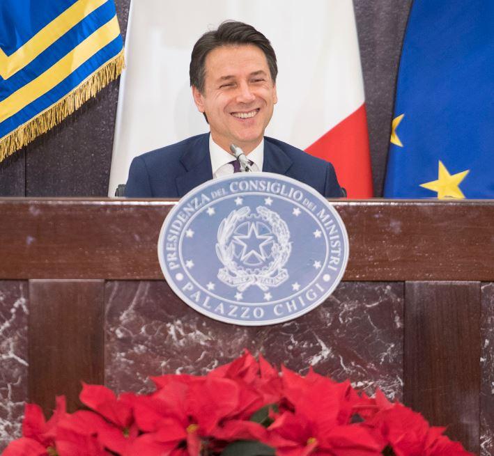 Giuseppe Conte in conferenza di fine anno 2018