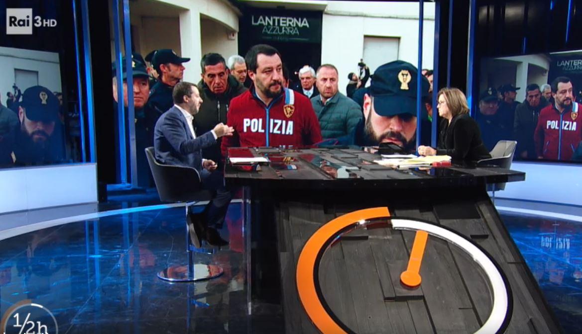 Salvini a Mezzora: no patrimoniale