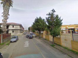 La strada dov'è avvenuto l'omicidio a Cirò Marina